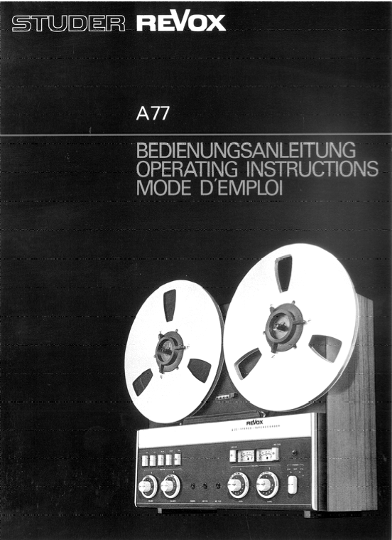 Revox20A7720manual20EnglishGermanFrench